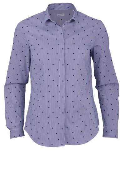 SEIDENSTICKER Modern Bluse Langarm Streifen dunkelblau - Hemden Meister