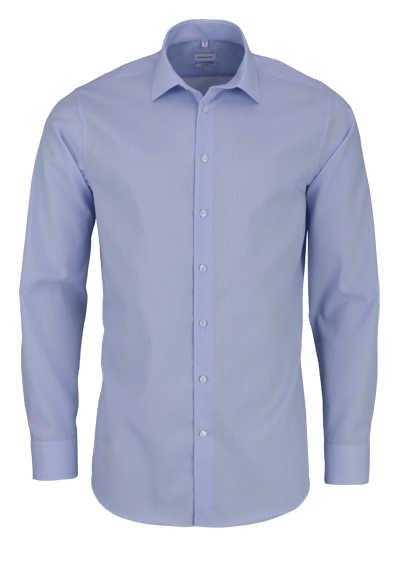 SEIDENSTICKER Tailored Hemd Langarm New Kent Kragen Streifen hellblau - Hemden Meister