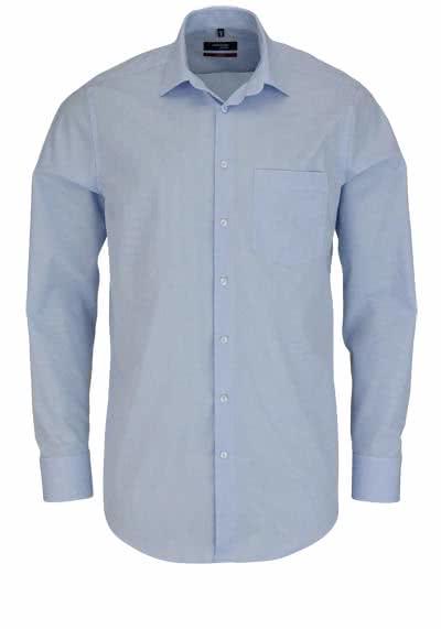 SEIDENSTICKER Modern Hemd Langarm New Kent Kragen Karo hellblau - Hemden Meister