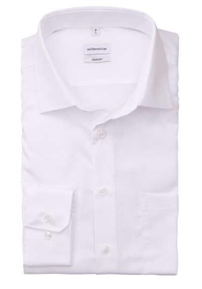 SEIDENSTICKER Comfort Hemd Langarm New Kent Kragen weiß - Hemden Meister