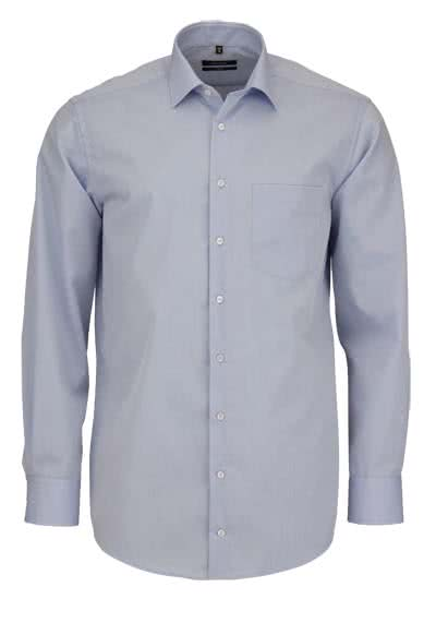 SEIDENSTICKER Comfort Hemd Langarm New Kent Kragen Chambray hellblau - Hemden Meister