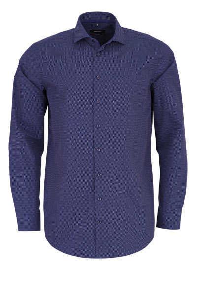 SEIDENSTICKER Modern Hemd extra langer Arm Punkte dunkelblau - Hemden Meister