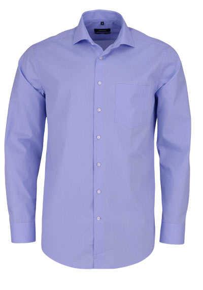 SEIDENSTICKER Modern Hemd Langarm Brusttasche Punkte hellblau - Hemden Meister