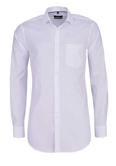 SEIDENSTICKER Modern Hemd extra langer Arm Struktur weiß - Hemden Meister