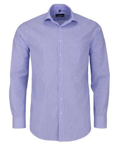 SEIDENSTICKER Modern Hemd extra langer Arm Streifen mittelblau - Hemden Meister