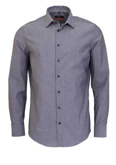 SEIDENSTICKER Slim Hemd extra langer Arm New Kent Kragen mittelblau - Hemden Meister