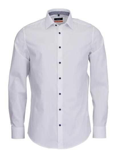 SEIDENSTICKER Slim Hemd extra langer Arm New Kent Kragen weiß - Hemden Meister
