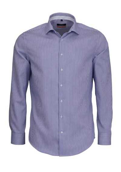 SEIDENSTICKER Slim Hemd extra langer Arm Streifen hellblau - Hemden Meister