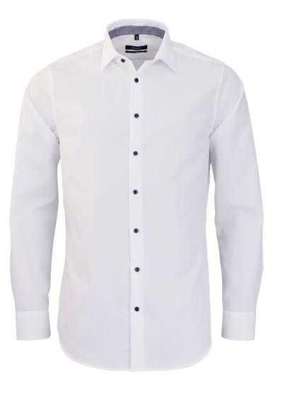SEIDENSTICKER Tailored Hemd extra langer Arm New Kent Kragen weiß - Hemden Meister