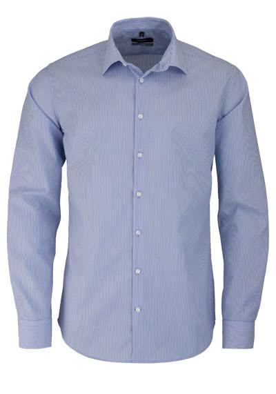 SEIDENSTICKER X-Slim Hemd Langarm Popeline Streifen hellblau - Hemden Meister