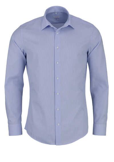 SEIDENSTICKER Slim Hemd Langarm Streifen hellblau - Hemden Meister