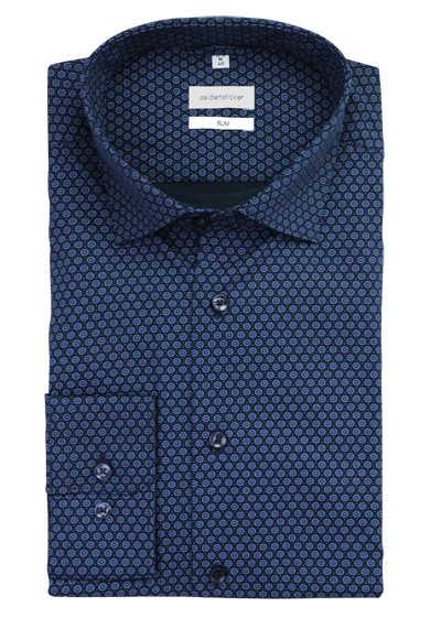 Langarm Camisa para Hombre X-Slim Fit Seidensticker Einfarbiges Hemd Mit Kent-Kragen Hohem Tragekomfort Und Struktur