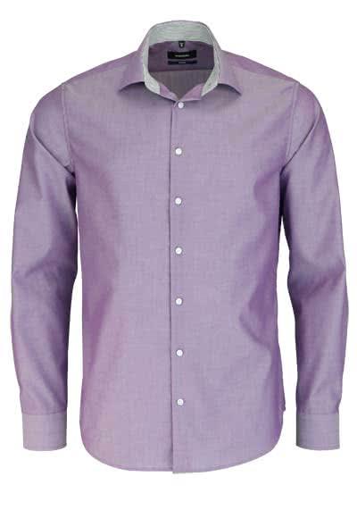 SEIDENSTICKER Tailored Hemd extra langer Arm Chambray lila - Hemden Meister