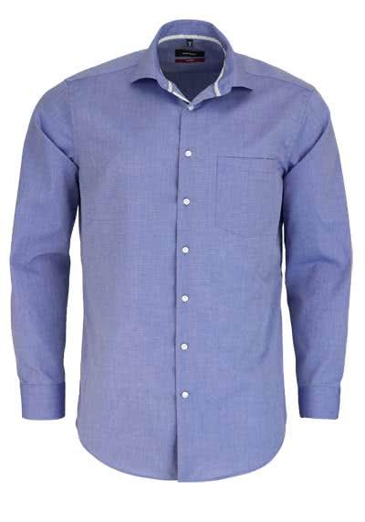 SEIDENSTICKER Modern Hemd extra langer Arm Brusttasche dunkelblau - Hemden Meister