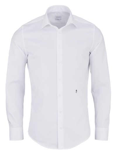 SEIDENSTICKER Slim Hemd Langarm THE ORIGINAL Kombimanschette weiß - Hemden Meister