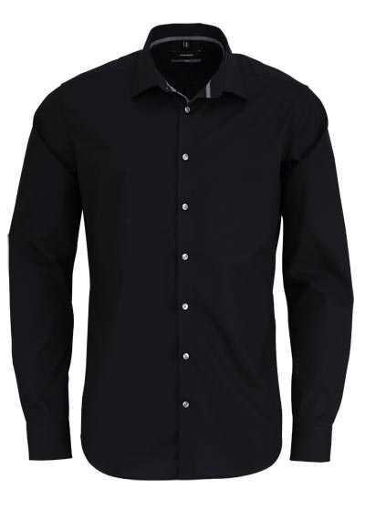 SEIDENSTICKER X-Slim Hemd Langarm New Kent Kragen schwarz - Hemden Meister