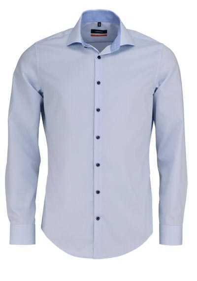 SEIDENSTICKER Slim Hemd extra langer Arm Haifischkragen hellblau - Hemden Meister