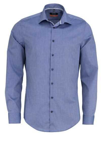 SEIDENSTICKER Slim Hemd extra langer Arm Fil a Fil dunkelblau - Hemden Meister