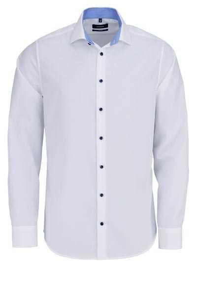 SEIDENSTICKER Tailored Hemd extra langer Arm Haifischkragen weiß - Hemden Meister