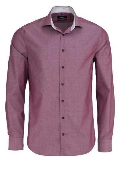 SEIDENSTICKER Tailored Hemd extra langer Arm Haifischkragen dunkelrot - Hemden Meister