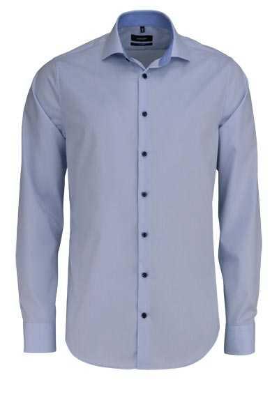 SEIDENSTICKER Tailored Hemd extra langer Arm Haifischkragen hellblau - Hemden Meister