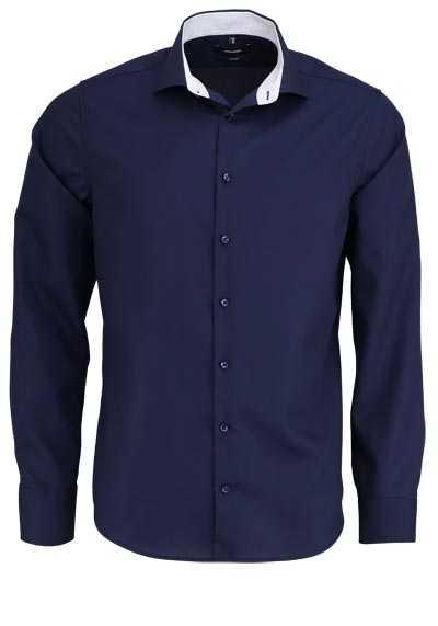 SEIDENSTICKER Tailored Hemd extra langer Arm Haifischkragen nachtblau - Hemden Meister