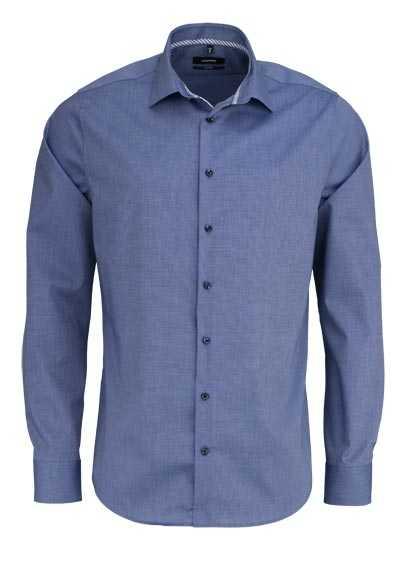 SEIDENSTICKER Tailored Hemd extra langer Arm Fil a Fil dunkelblau - Hemden Meister