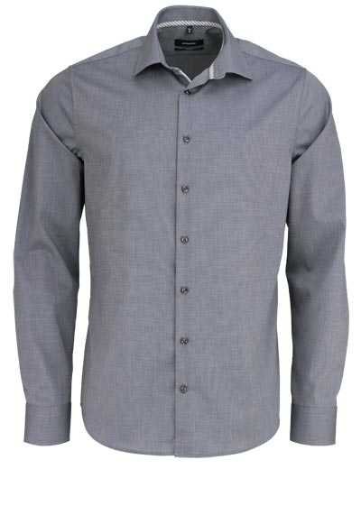 SEIDENSTICKER Tailored Hemd extra langer Arm Fil a Fil anthrazit - Hemden Meister