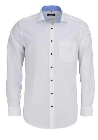 SEIDENSTICKER Modern Hemd extra langer Arm Haifischkragen weiß - Hemden Meister