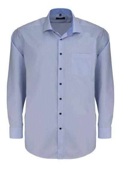 SEIDENSTICKER Modern Hemd extra langer Arm Haifischkragen hellblau - Hemden Meister