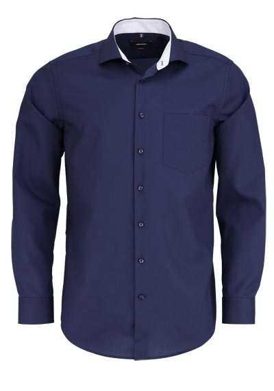 SEIDENSTICKER Modern Hemd extra langer Arm Haifischkragen nachtblau - Hemden Meister