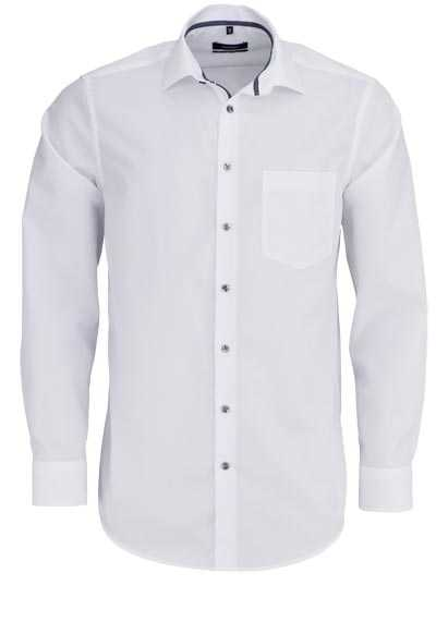 7497615dab46 SEIDENSTICKER Modern Hemd Langarm New Kent Kragen weiß - Hemden Meister