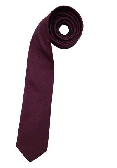 SEIDENSTICKER Krawatte aus reiner Seide 7 cm breit Struktur dunkelrot - Hemden Meister