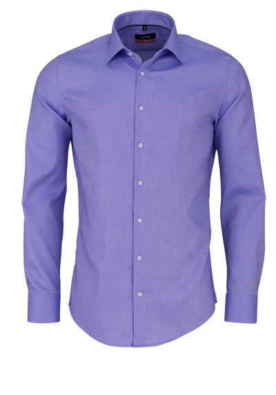 SEIDENSTICKER Slim Hemd extra langer Arm Struktur hellblau - Hemden Meister