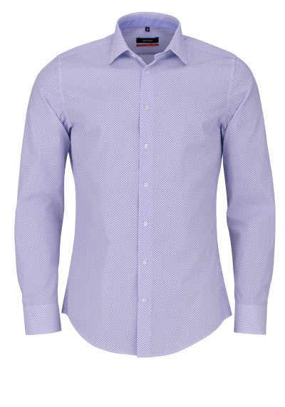 SEIDENSTICKER Slim Hemd extra langer Arm Muster mittelblau - Hemden Meister
