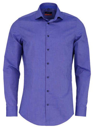 SEIDENSTICKER Slim Hemd extra langer Arm Haifischkragen dunkelblau - Hemden Meister