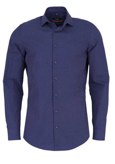 SEIDENSTICKER Slim Hemd extra langer Arm Punkte dunkelblau - Hemden Meister