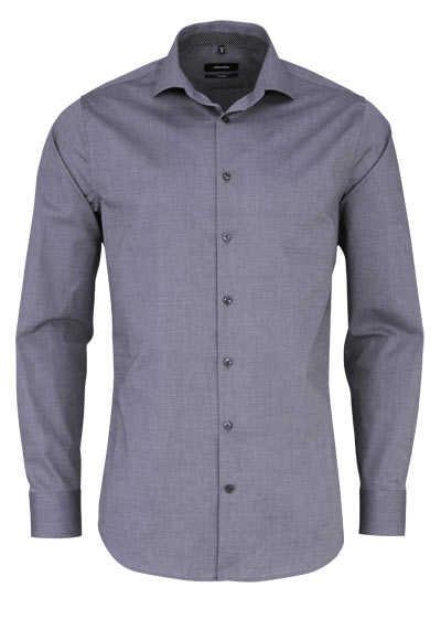 SEIDENSTICKER Tailored Hemd extra langer Arm Popeline dunkelgrau - Hemden Meister