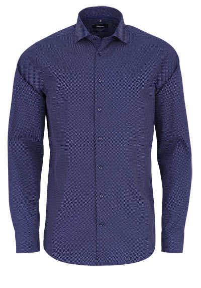 SEIDENSTICKER Tailored Hemd extra langer Arm Punkte dunkelblau - Hemden Meister