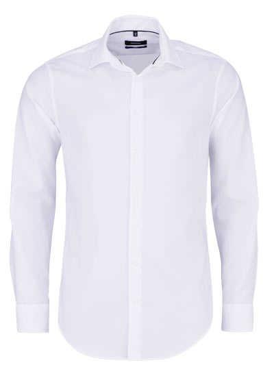 SEIDENSTICKER Tailored Hemd extra langer Arm Struktur weiß - Hemden Meister