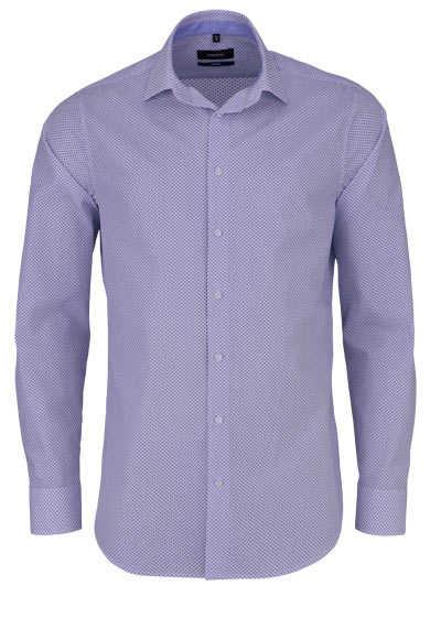 SEIDENSTICKER Tailored Hemd extra langer Arm Muster mittelblau - Hemden Meister