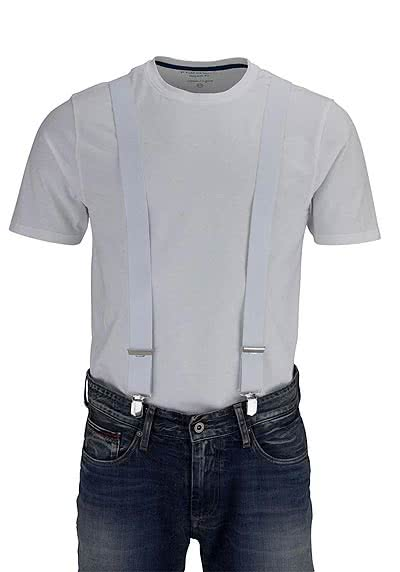 SCHUCHARD & FRIESE Hosenträger 3,5 cm weiß - Hemden Meister