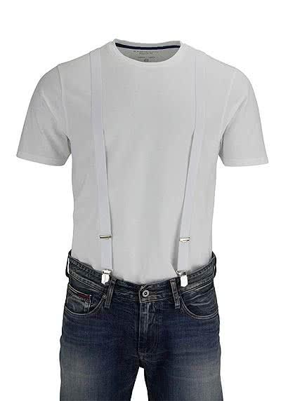 SCHUCHARD & FRIESE Hosenträger 2,5 cm weiß - Hemden Meister