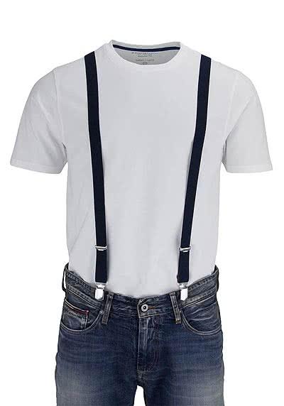 SCHUCHARD & FRIESE Hosenträger 2,5 cm marine - Hemden Meister