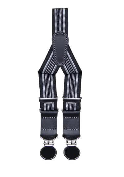 SCHUCHARD & FRIESE Hosenträger 2,5 cm breit Muster schwarz - Hemden Meister