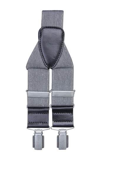 SCHUCHARD & FRIESE Hosenträger 3,5 cm breit hellgrau - Hemden Meister