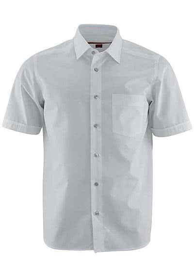 SIGNUM Regular Cut Hemd Halbarm Uni weiß - Hemden Meister