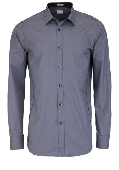 SIGNUM Modern Fit Hemd Langarm Basic Kent Kragen grau - Hemden Meister