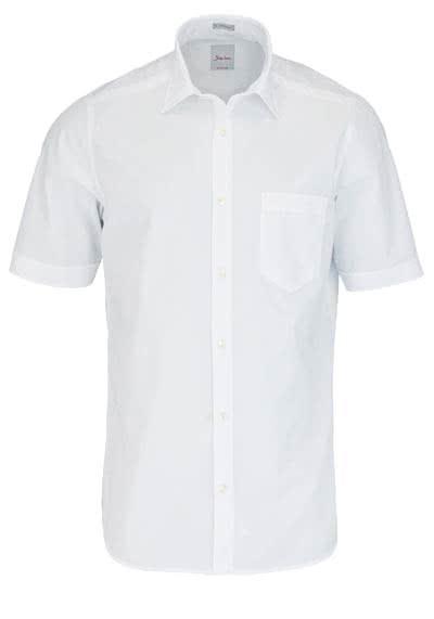 SIGNUM Modern Fit Hemd Halbarm New Kent Kragen weiß - Hemden Meister