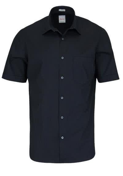 SIGNUM Modern Fit Hemd Halbarm New Kent Kragen schwarz - Hemden Meister